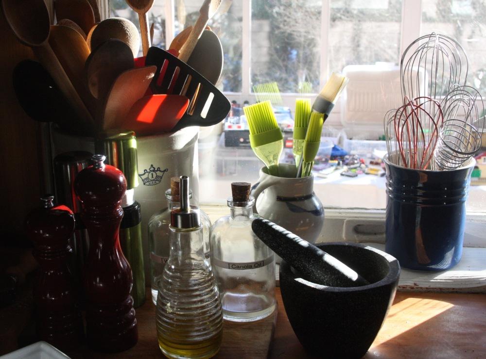 Kitchen windowsil