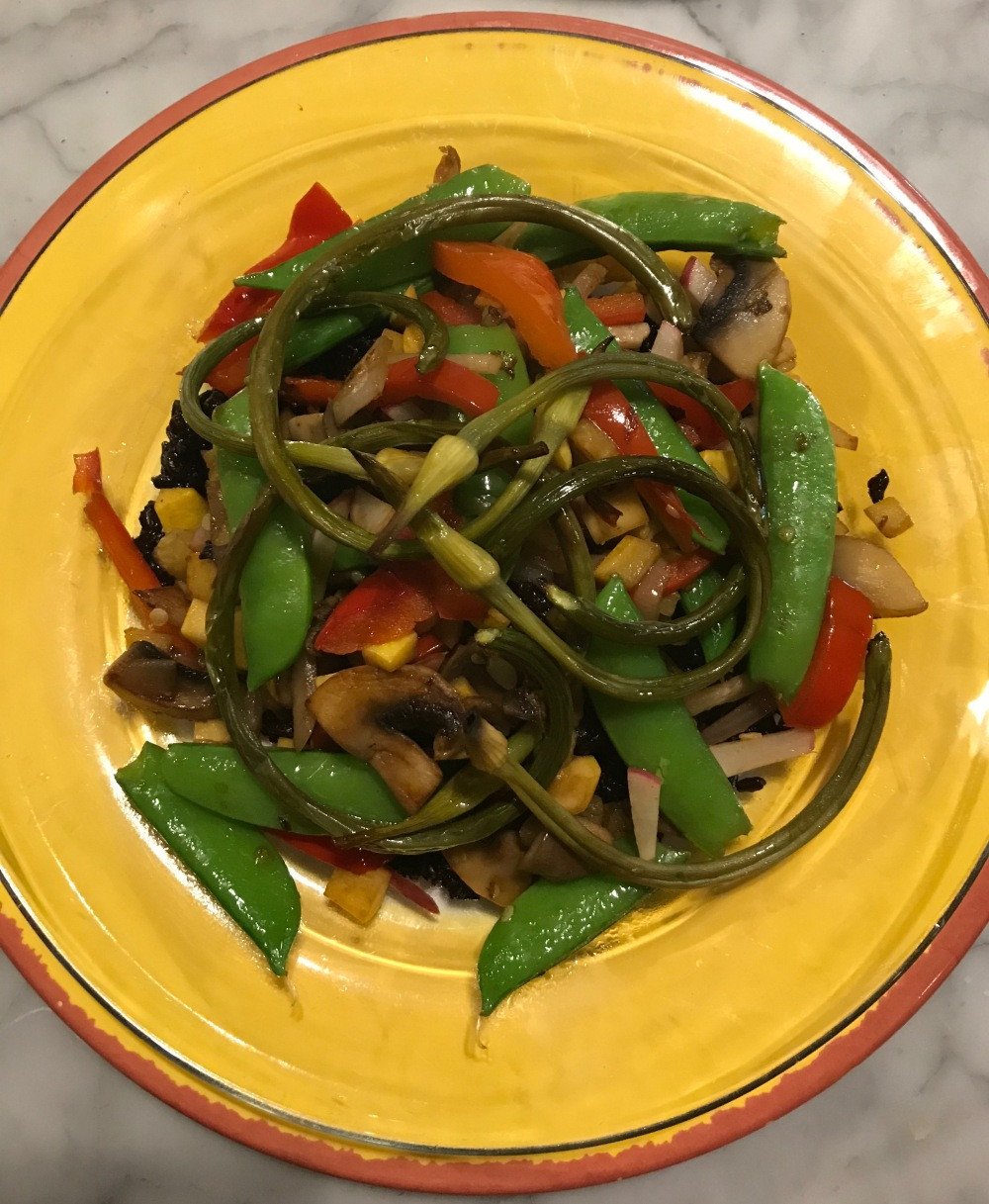 Stir Fry with Garlic Scapes