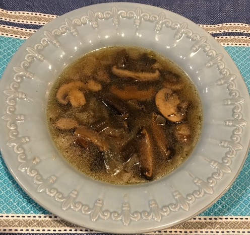1. Mushroom soup