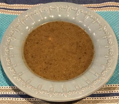 2. pureed mushroom soup