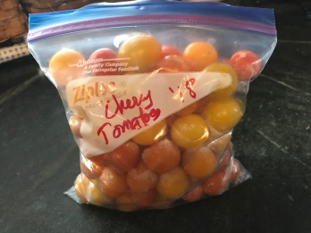 4 frozen cherry tomatoes