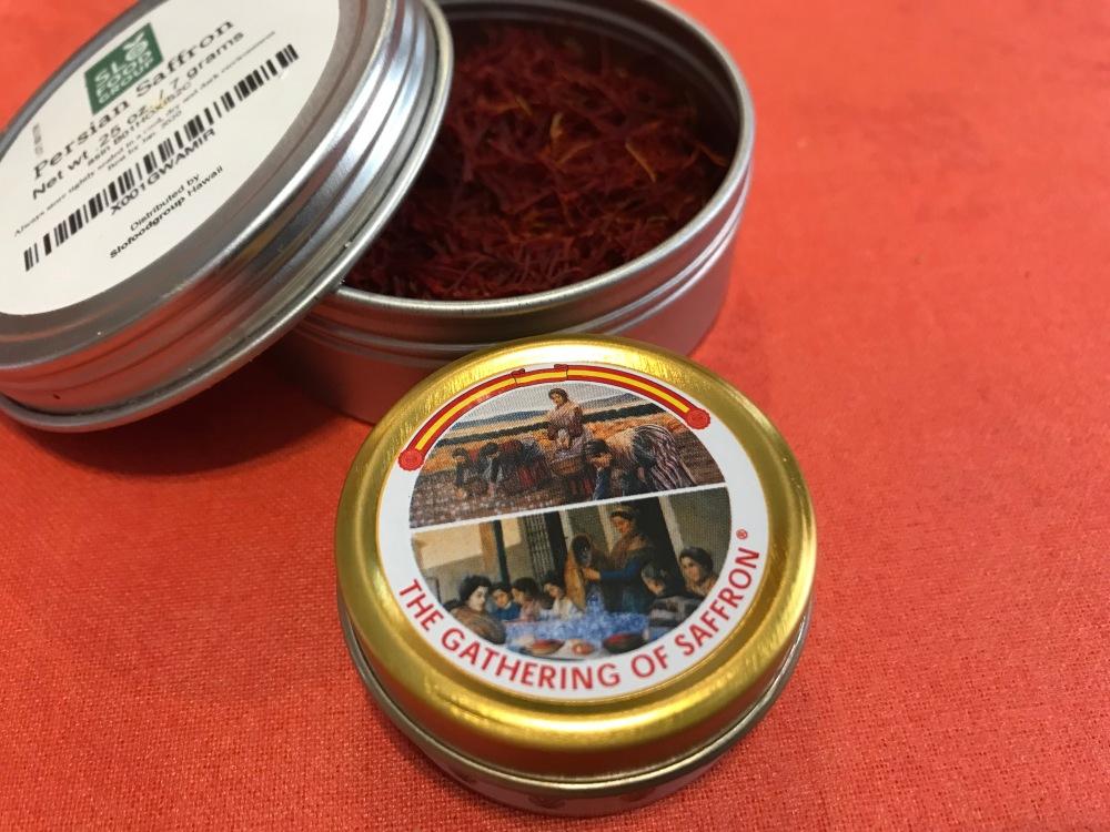 Saffron tins