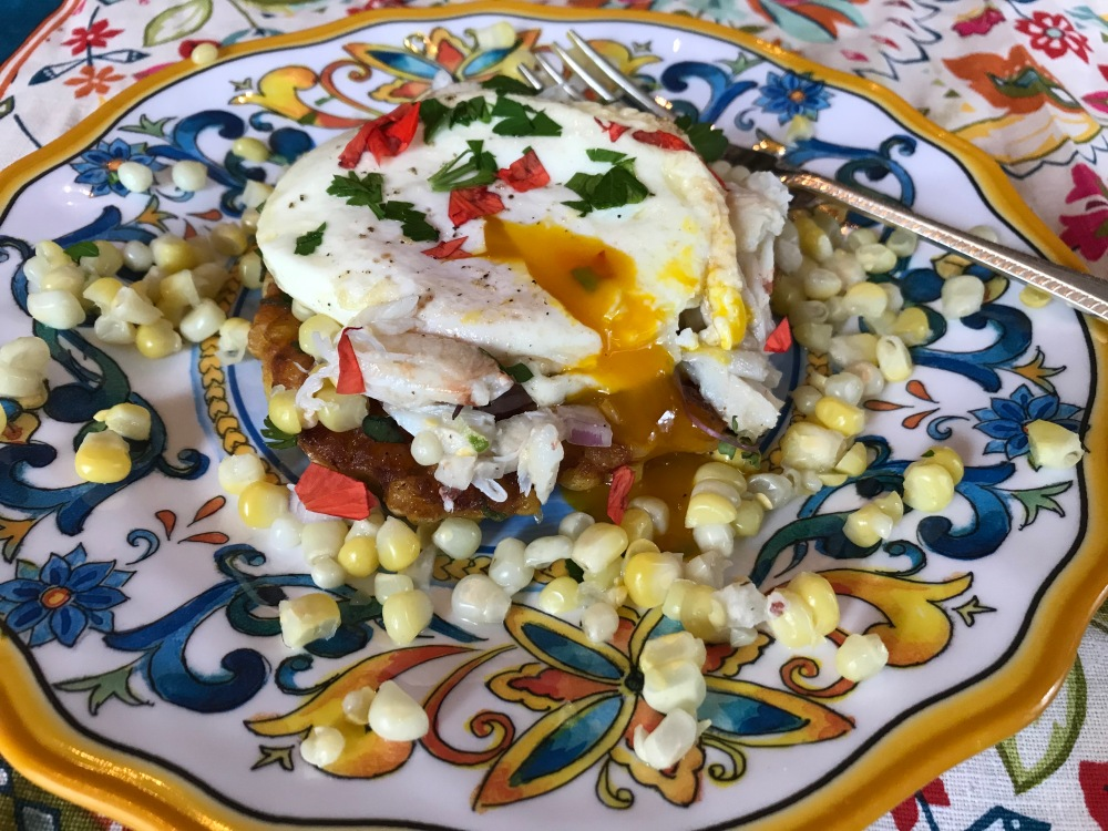 Corn & Crab salad with egg