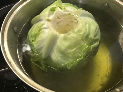 core the cabbage