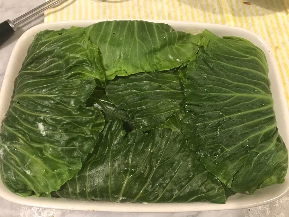 fold the leaves over