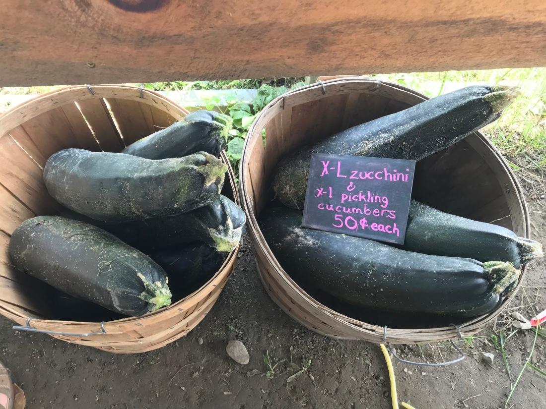Overgrown produce