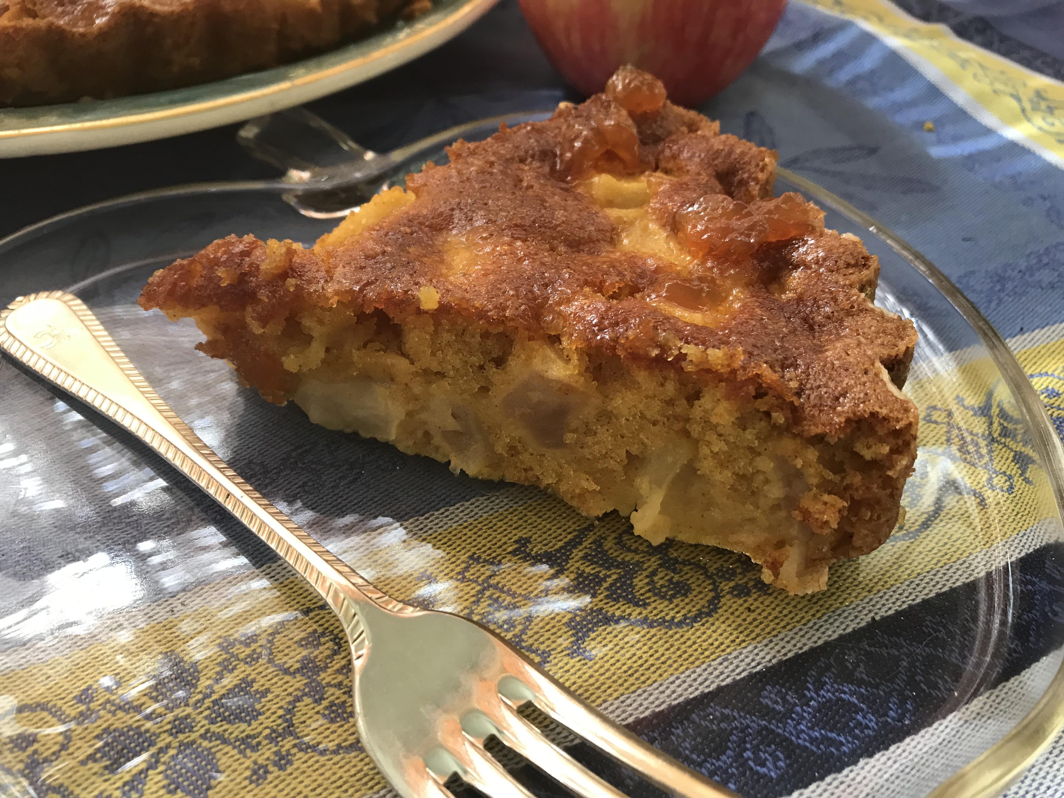 Slice of apple cake