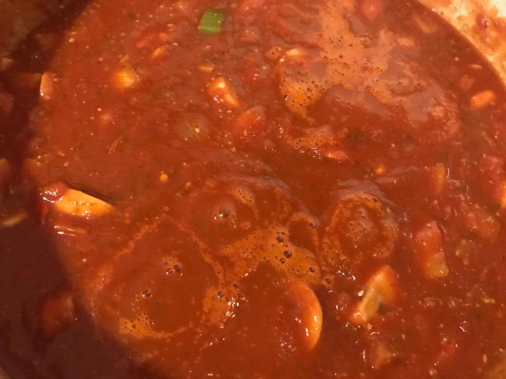 pasta sauce cooking