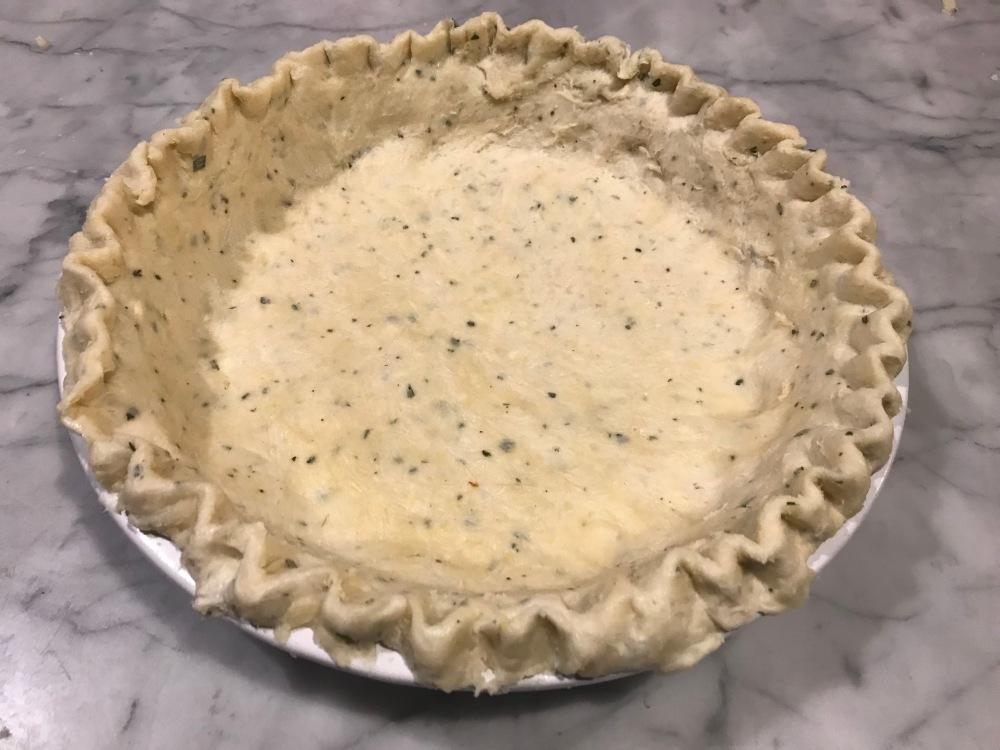 Rosemary pie crust