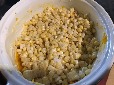 squash and corn layers